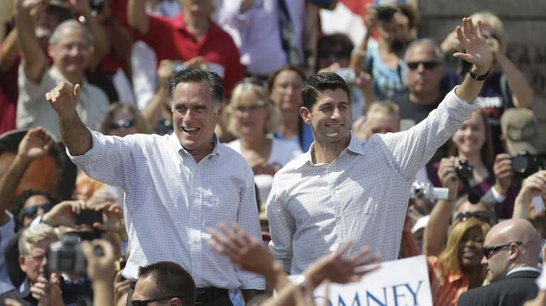 Republican presidential candidate Gov. Mitt Romney, left, and
