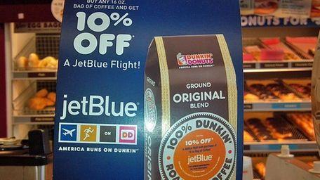 The JetBlue-Dunkin' Donuts promo runs through Sept. 4,