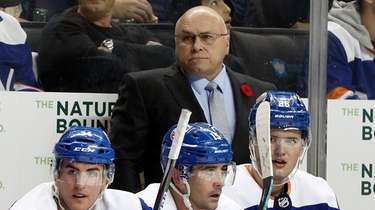 Head coach Barry Trotz of the Islanders looks