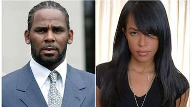 R. Kelly, left, in Chicago on May 9,