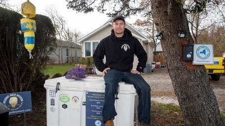 Matt Ketcham, owner of Peconic Gold Oysters, formerly