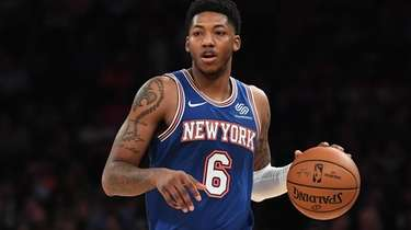 Elfrid Payton was back with the Knicks Thursday