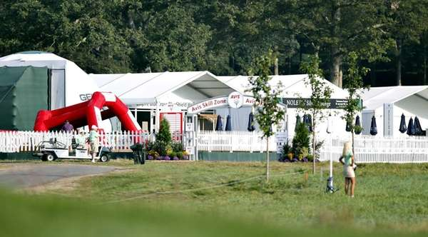 The Spectator Village at the 16th whole features