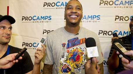 Carmelo Anthony takes a timeout from Camp Melo