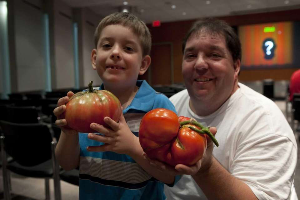 Billy King Jr., 6, poses with his dad,