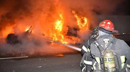 Firefighters responded to a truck fire on the