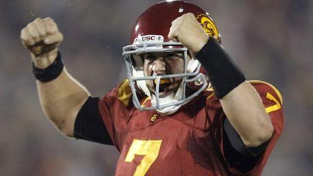 Southern California quarterback Matt Barkley celebrates a touchdown