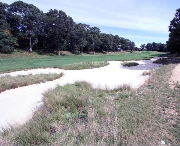 A look at the sand traps on the