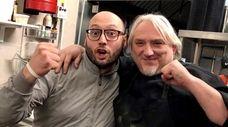 Chef Gigi Sacchetti, right, has joined pizzaiolo Gianluca