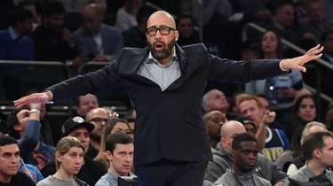 Knicks head coach David Fizdale during the