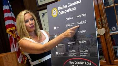 Hempstead Town Supervisor Laura Gillen in July discusses