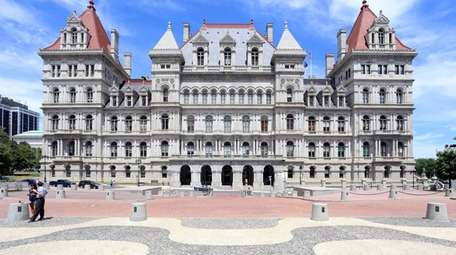 The New York State Capitol Building in Albany,