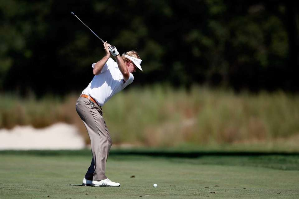 Brandt Snedeker hits a shot from the fairway