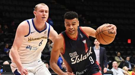 Long Island Nets forward Timothe Luwawu-Cabarrot drives the