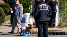 The NYPD served a search warrant in Uniondale
