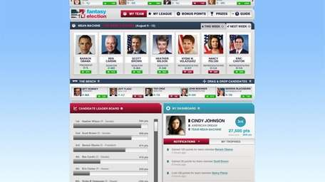 """MTV officially launched """"Fantasy Election '12"""" on Aug."""