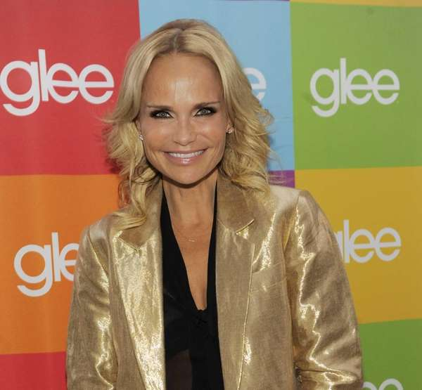 "Kristin Chenoweth poses before a ""Glee Sing-A-Long"" event"