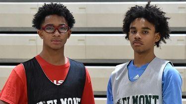 Jévon Santos, left, and Isiah Barnes, Elmont seniors,