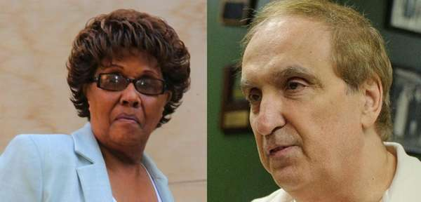 State Senator Shirley Huntley (left) and Assemblyman Vito