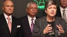 U.S. Homeland Security Secretary Janet Napolitano, David Stern,
