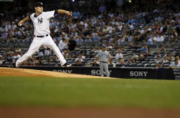 David Phelps #41 of the New York Yankees