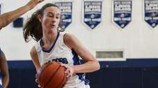 North Babylon's Samantha Muller looks to move the