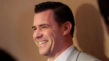 Mets general manager Brodie Van Wagenen speaks at
