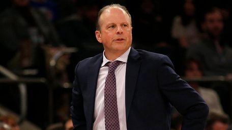 Interim head coach Mike Miller of the Knicks