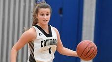 Commack guard Olivia Vasselman controls the ball against