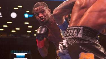 Elmont's Titus Williams fights Cobia Breedy, from Barbados,