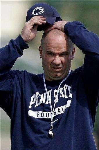 Penn State head coach Bill O'Brien watches players