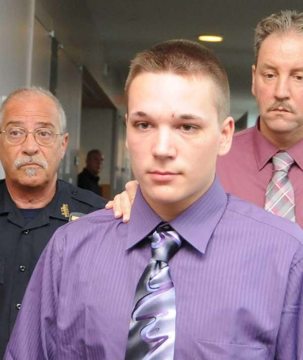 Ryan Foote, 17, at Central Islip Criminal Court,