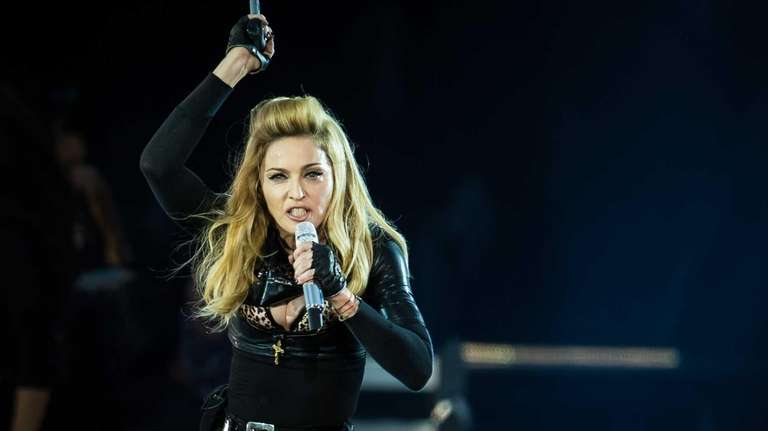 Madonna performs during her MDNA tour at Hyde