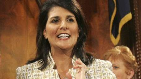South Carolina Gov. Nikki Haley arrives at The