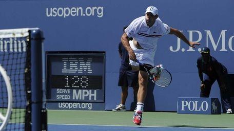 Andy Roddick's serve speed to Rhyne Williams is