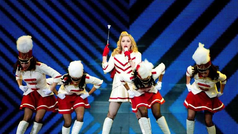Madonna performs at the MDNA North America Tour
