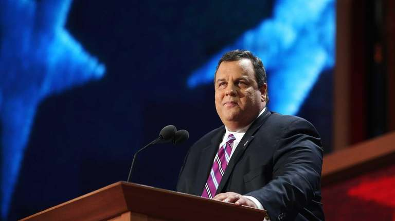 New Jersey Gov. Chris Christie delivers the keynote