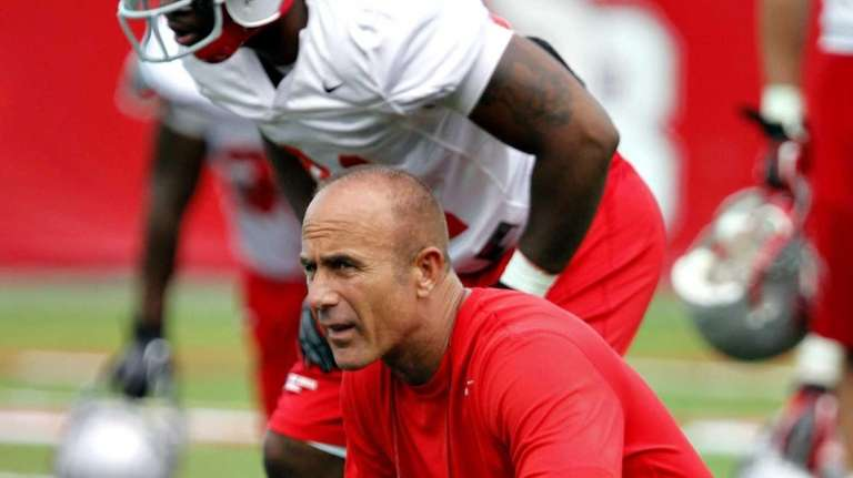Stony Brook head coach Chuck Priore during football