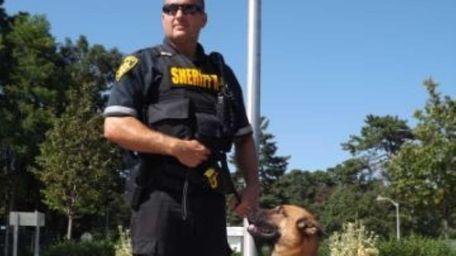 Deputy K-9 Bob with his handler, Deputy Sheriff