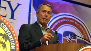 Speaker of the House, John Boehner speaks to