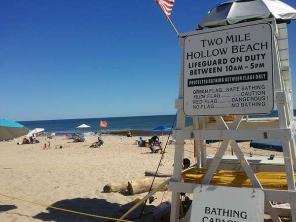 Two Mile Hollow Beach in East Hampton is