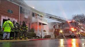On Monday, firefighters from at least nine Suffolk