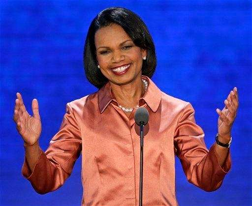 Former Secretary of State Condoleezza Rice addresses the