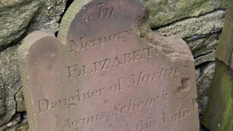 The headstone for Elizabeth Schenck was found at