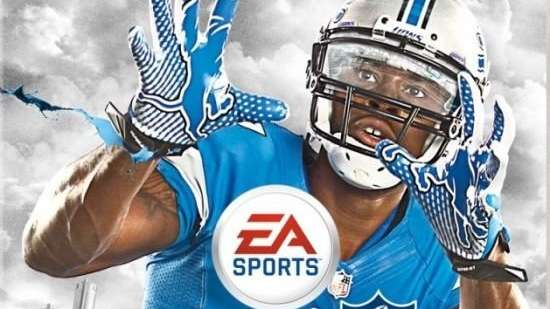 Detroit Lions' wide receiver Calvin Johnson graces the