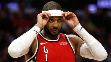 Carmelo Anthony of the Portland Trail Blazers on
