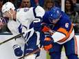 Ryan Pulock of the New York Islanders defends