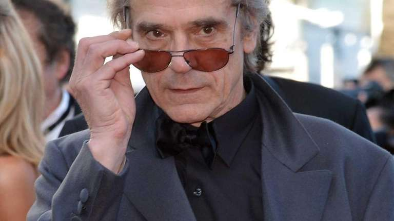 British actor Jeremy Irons arrives for the screening