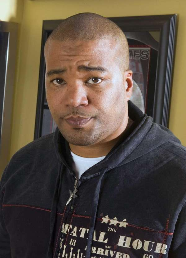 Hip-hop mogul Chris Lighty in his office in