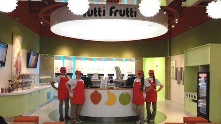 Tutti Frutti is a self-serve frozen-yogurt store in